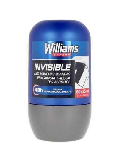 WILLIAMS DEODORANT INVISIBLE ROLL ON 75ml