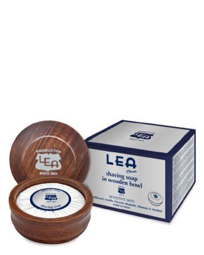 LEA CLASSIC Shaving Soap In Wooden Bowl 100g