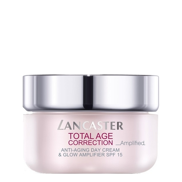 LANCASTER TOTAL AGE CORRECTION ANTI-AGING DAY CREAM & GLOW AMPLIFIER SPF15 50ml